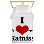I Heart Katniss Twin Duvet