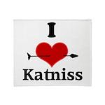 I Heart Katniss Throw Blanket