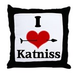 I Heart Katniss Throw Pillow