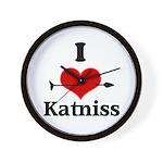 I Heart Katniss Wall Clock
