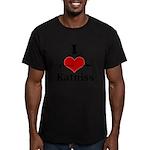I Heart Katniss Men's Fitted T-Shirt (dark)