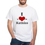 I Heart Katniss White T-Shirt