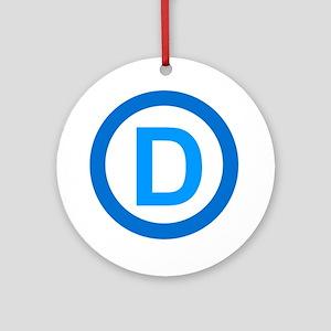 Democratic D Design Ornament (Round)