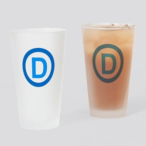Democratic D Design Drinking Glass