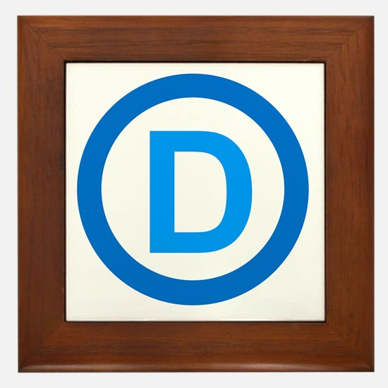 Democratic D Design Framed Tile
