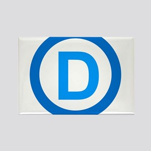 Democratic D Design Rectangle Magnet