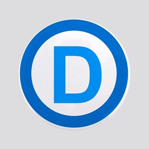 "Democratic D Design 3.5"" Button"