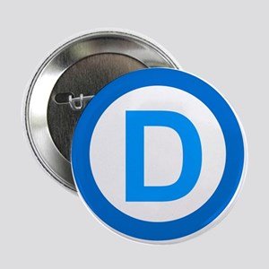 "Democratic D Design 2.25"" Button"