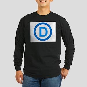Democratic D Design Long Sleeve Dark T-Shirt