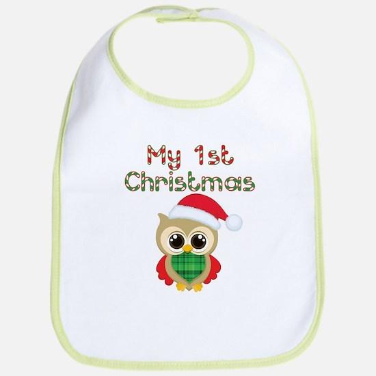 My 1st Christmas owl Bib