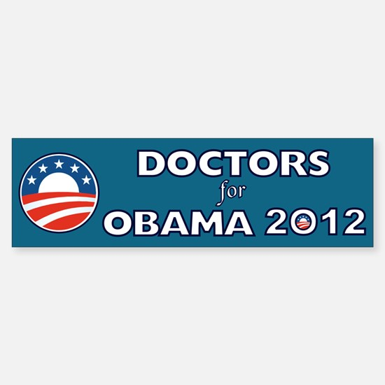 Doctors For Obama 2012 Sticker (Bumper)