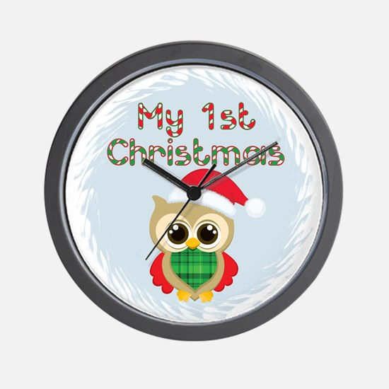 My 1st Christmas owl (boy) Wall Clock