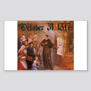 Reformation Day- October 31, 1517 Sticker (Rectang