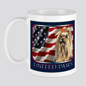 Yorkshire Terrier Patriotic Flag USA Mug