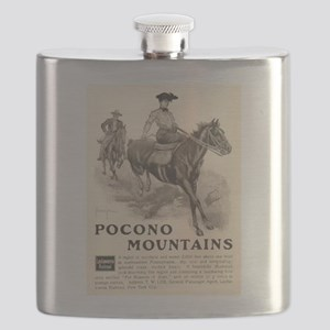 1903 Pocono Mountains Ad Flask