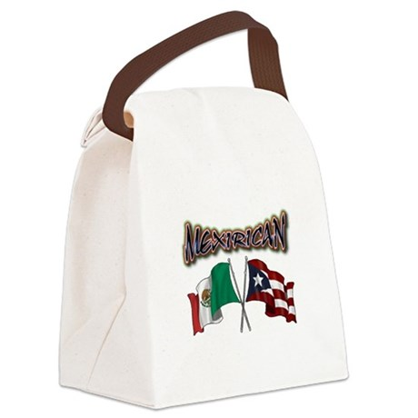 MexiRican Flags centered Canvas Lunch Bag