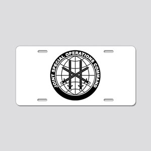 JSOC B-W Aluminum License Plate
