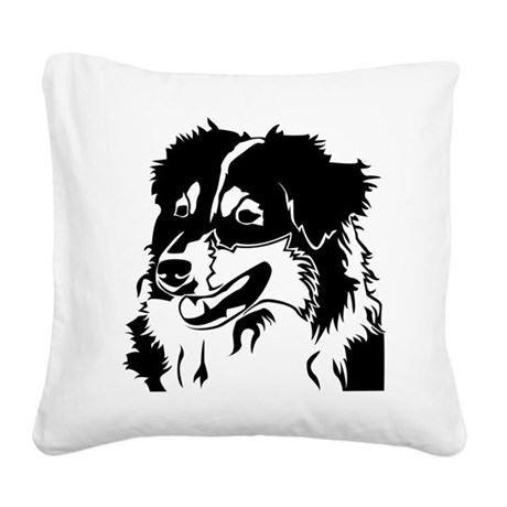 AUSSIE HEAD Square Canvas Pillow
