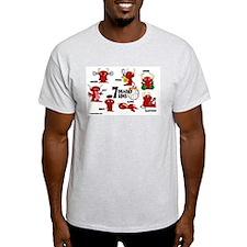 7 Deadly Sins Volleyball Light T-Shirt