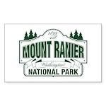 Mount Ranier National Pa Sticker (Rectangle 50 pk)