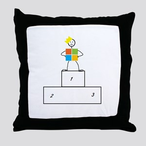 Microsoft is the winner Throw Pillow