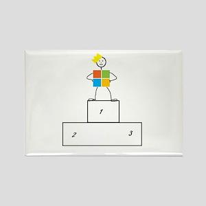 Microsoft is the winner Rectangle Magnet