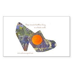 artsciencespirit shoe Sticker (Rectangle 50 pk)