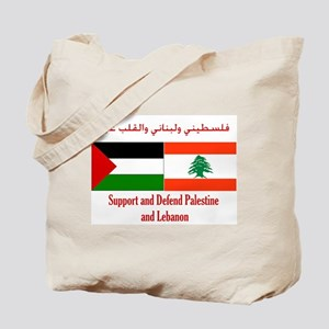 Palestine and Lebanon Tote Bag