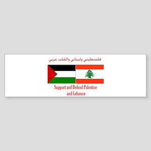 Palestine and Lebanon Bumper Sticker