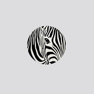 Zebra Print Mini Button