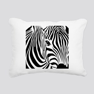 Zebra Print Rectangular Canvas Pillow