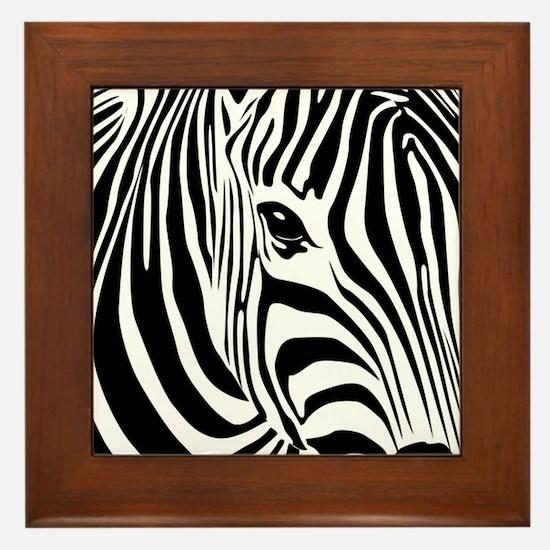 Zebra Print Framed Tile