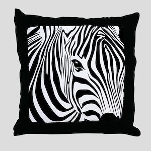 Zebra Print Throw Pillow