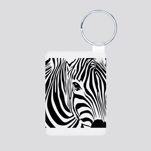 Zebra Print Aluminum Photo Keychain