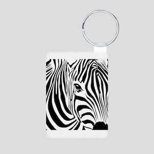 Zebra Print Aluminum Photo Keychain