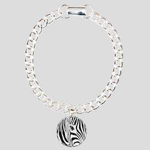 Zebra Print Charm Bracelet, One Charm