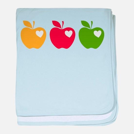 Apple Hearts Love to Teach baby blanket