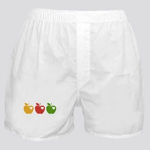 Apple Hearts Love to Teach Boxer Shorts