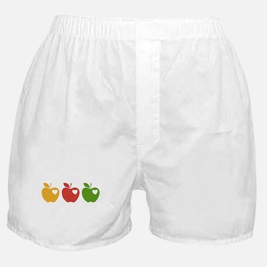 Apple Hearts Love to Teach Boxer Shorts