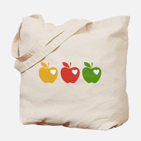Apple Hearts Love to Teach Tote Bag