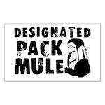 designatedpackmule Sticker (Rectangle 50 pk)