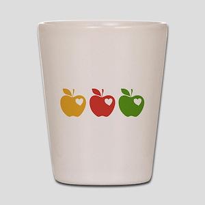 Apple Hearts Love to Teach Shot Glass