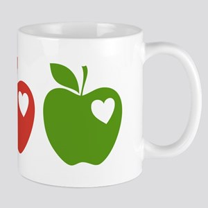 Apple Hearts Love to Teach Mug