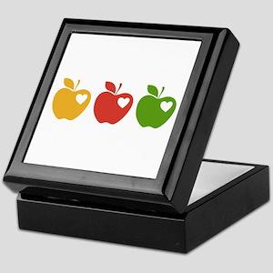 Apple Hearts Love to Teach Keepsake Box