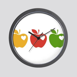 Apple Hearts Love to Teach Wall Clock
