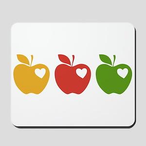 Apple Hearts Love to Teach Mousepad