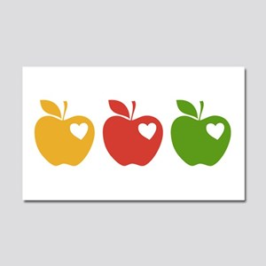 Apple Hearts Love to Teach Car Magnet 20 x 12