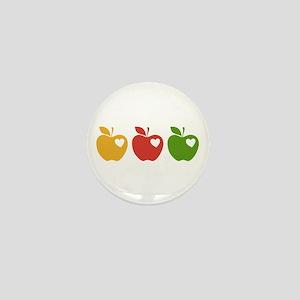 Apple Hearts Love to Teach Mini Button