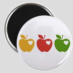 Apple Hearts Love to Teach Magnet