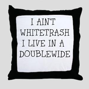trailertrash Throw Pillow